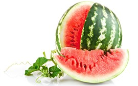 Preview wallpaper Delicious watermelon, fruit, white background