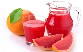 Preview wallpaper Grapefruit, red, fruit juice, drinks