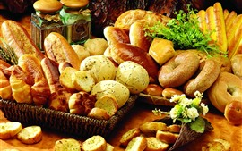 Many kinds of bread, food