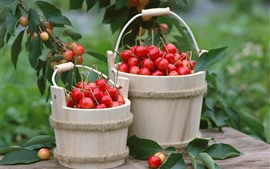 Preview wallpaper Two bucket of cherries