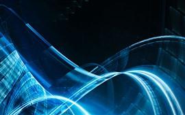 壁紙のプレビュー 抽象的な青い光チャンネル