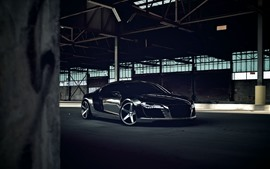 Preview wallpaper Audi R8 black car