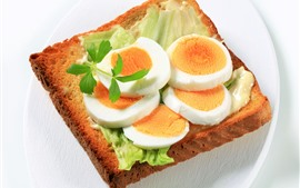 Preview wallpaper Bread and egg, food