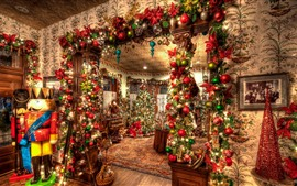 Preview wallpaper Christmas, interior, decoration, colorful
