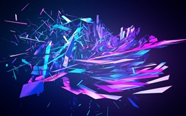 Preview wallpaper Colorful abstract fragments, explosion