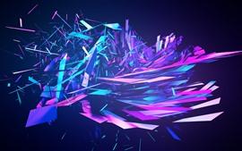 Fragmentos abstractos coloridos, explosión