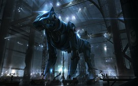 Preview wallpaper Cyborg, robot dog, creative picture