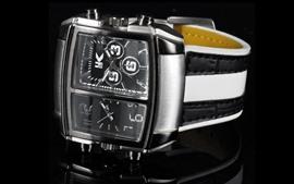 Relojes duales, fondo negro
