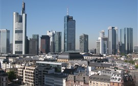 Aperçu fond d'écran Francfort, Allemagne, ville, bâtiments