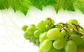 Preview wallpaper Green grapes, green leaves