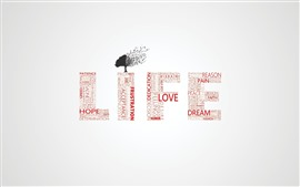 Preview wallpaper Life, tree, words, creative design