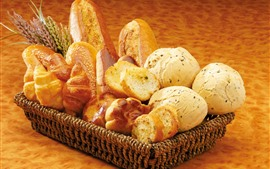 Preview wallpaper One basket of bread, food