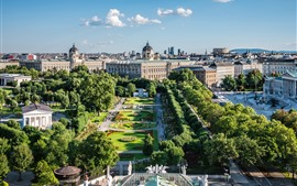 Vienna, Austria, city, garden, buildings, trees