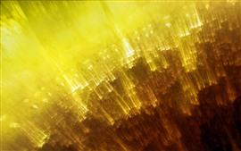 壁紙のプレビュー 黄色の光のライン、抽象的なデザイン