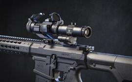 Preview wallpaper Assault rifle, telescopic sight
