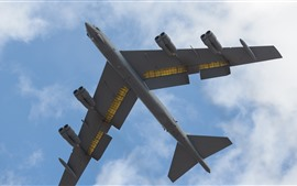 Preview wallpaper B-52H heavy bomber, flight, sky, clouds