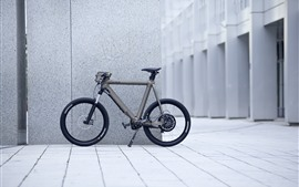 Preview wallpaper Bike, wall, street, city