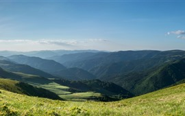 Preview wallpaper Bulgaria, mountains, grass, nature landscape