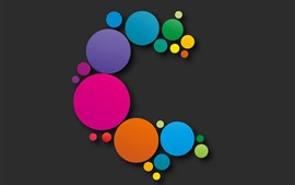 Preview wallpaper Colorful circles, abstract design