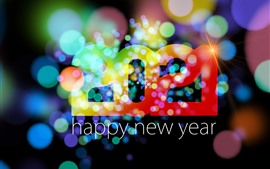 Happy New Year 2021, colorful, light circles, shine, creative