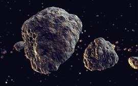 Meteoros, rochas, espaço