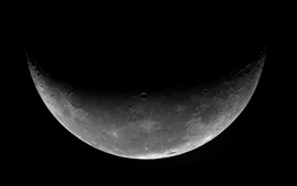 Preview wallpaper Moon, space, black background