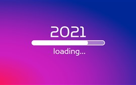 Preview wallpaper New Year 2021, loading, creative picture