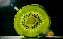 Preview wallpaper One slice green kiwi, texture