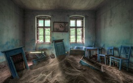 Room, sands, window, dirt