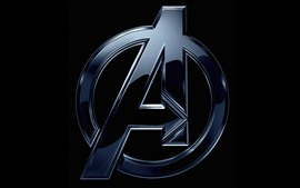 Preview wallpaper Avengers, logo, black background