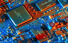 Preview wallpaper Electronic components, microprocessor, PCB board