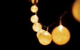 Aperçu fond d'écran Guirlande, lumières, lanterne, fond noir