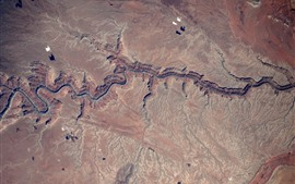 Preview wallpaper Grand Canyon, from space to view the Earth