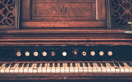 Old piano, keys