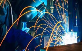 Sparks, worker, welder