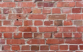Preview wallpaper Wall, bricks, texture, red