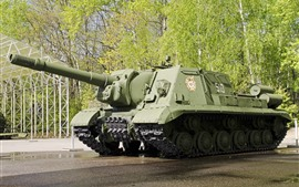 Weapon, tank, trees, green