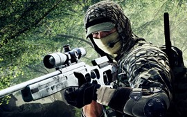 Preview wallpaper Battlefield 4, sniper, soldier, mask