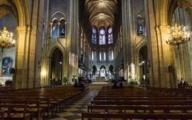 França, paris, igreja, interior, salão