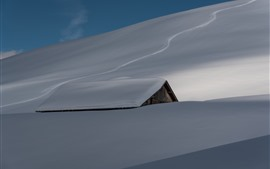 Preview wallpaper Heavy snow, roof, house, winter
