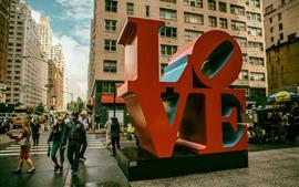壁紙のプレビュー ニューヨーク市、愛、マンハッタン、アメリカ合衆国