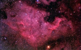 Preview wallpaper North America Nebula, space, stars, purple