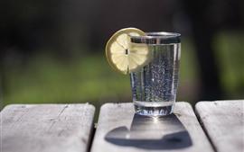 미리보기 배경 화면 레모네이드 한잔, 레몬 슬라이스