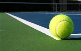 1つの緑のテニス、ボール