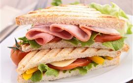 壁紙のプレビュー サンドイッチ、食品