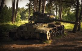 미리보기 배경 화면 탱크, 나무, 무기, 햇빛