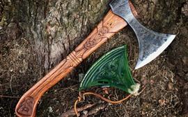 壁紙のプレビュー ツール、斧