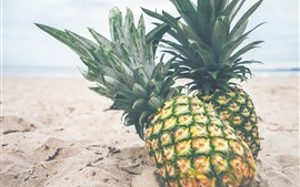Preview wallpaper Two pineapples, beach
