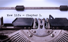 Aperçu fond d'écran Typewriter, phrase