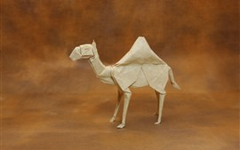 Preview wallpaper Paper camel, origami